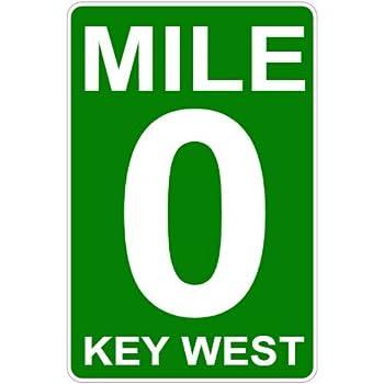 U s custom stickers mile 0 key west road sign sticker 3