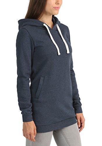 DESIRES Derby Hood Long - Sudaderas con capucha para Mujer Insignia Blue Melange