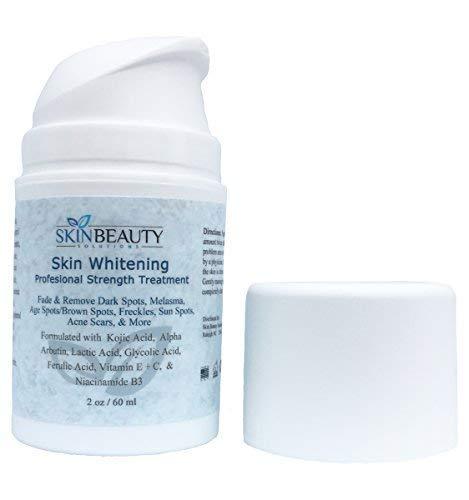 Pro Strength Skin Lightening Serum with Kojic Acid, Alpha-Arbutin & Vitamin C - Skin Bleaching, Hyperpigmentation, Melasma, Acne Spot (4 oz / 120 ml)