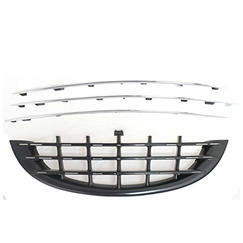 (Koolzap For 03 04 05 PT Cruiser Turbo Front Bumper Grill Grille Assembly CH1036103 5166429AA)