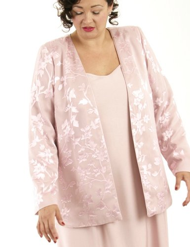 Peggy Lutz Plus Women's Coco Jacket Silk Diamante-XXS (12/14)-Pink