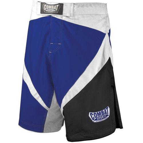 Combat Sports Fight MMA Boardshorts (Blue-White-Black, 30)