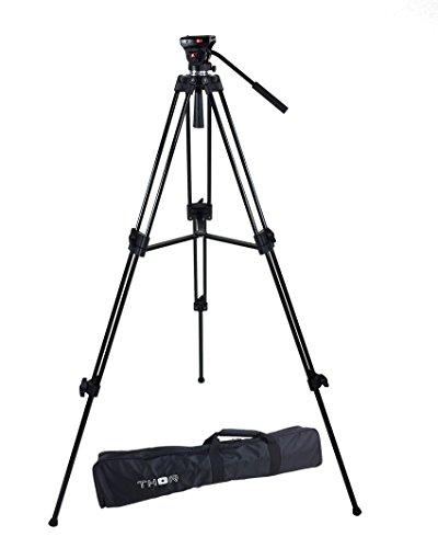 ePhoto Thor DVK-2803A Head Duty Fluid Head Video DSLR Camera Tripod ()