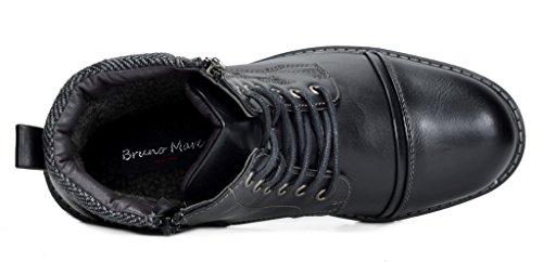 Marc Bruno Black Motocycle Combat Boots 3 Men's Apache Ankle Hqdfq7U