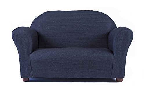 Keet Roundy Denim Children's Sofa, Blue by Keet