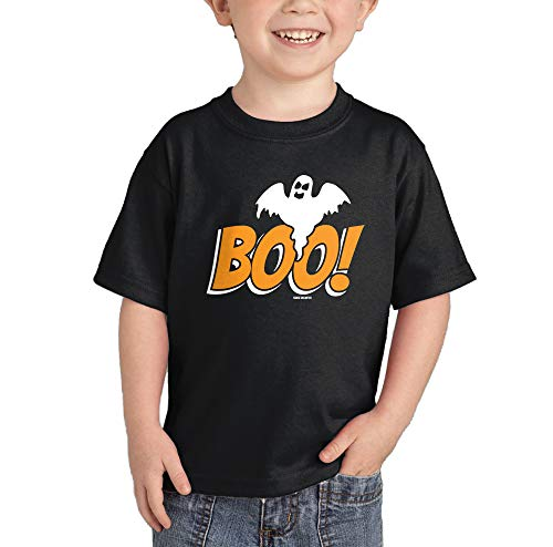 HAASE UNLIMITED Boo with Ghost - Halloween T-Shirt (Black, 5T)