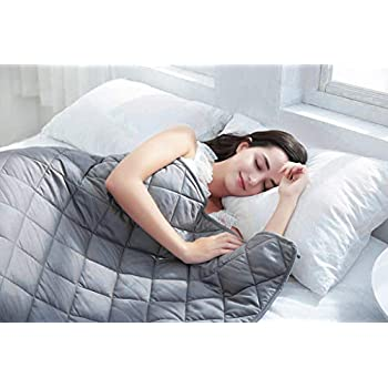 BarryLLL Cooling Weighted Blanket (15lbs 48