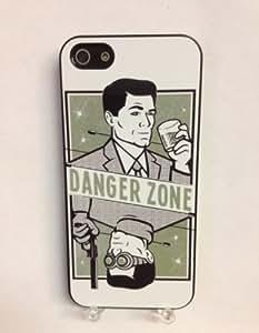 (646bi4) Archer Danger Zone iPhone 4 /4S Black Case