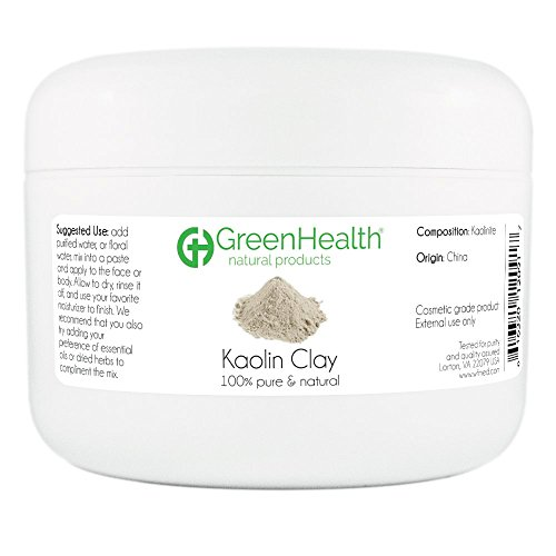 Kaolin Clay Powder - 100% Pure & Natural by GreenHealth (6 oz) -