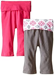 Yoga Sprout Baby-Girls Yoga Pants, Pink Medallion, 9-12 Months (Pack of 2)