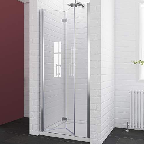 SUNNY SHOWER Bi-fold Shower Door with 1/4