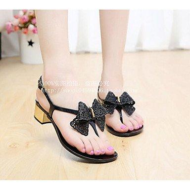 RUGAI-UE Verano Mujer sandalias de goma Casual zapatos de tacones de confort,Blanca,US6 / UE36 / UK4 / CN36 Black