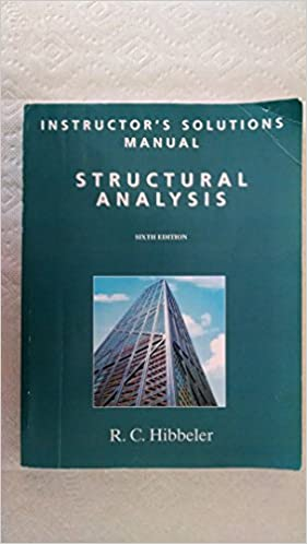 Instructors solutions manual structural analysis 6th edition instructors solutions manual structural analysis 6th edition r c hibbeler amazon books fandeluxe Choice Image