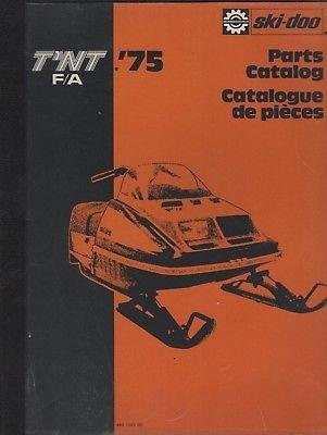 1978 SKI-DOO T'NT RV 340 SNOWMOBILE PARTS MANUAL 480 1087 00 (Ski Doo Tnt)