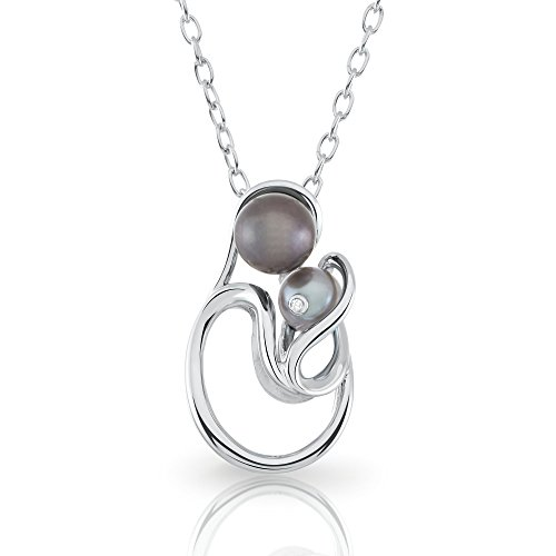 Freshwater Pearl Motherhood Jewelry in Sterling Silver with Diamond Accent ()