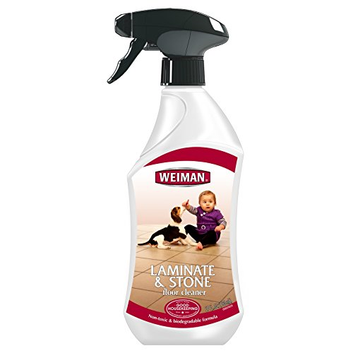 Weiman Laminate & Stone Floor Cleaner - Recommended for All Brands of Laminate Flooring, Linoleum, Ceramic and Grouted Tile, Marble and Any Non-porous Hard Surface Flooring - 27 Fl. Oz.