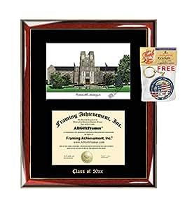 Amazon Com Virginia Tech University Diploma Frame Emboss
