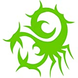 Twisted Scorpion Animal Laptop Ipad Car Truck Window Wall Vinyl Decal Sticker (Lime Green)