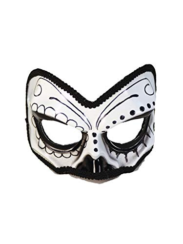 Forum Novelties Party Supplies 74136 MASK-DAY OF THE DEAD 1/2 Skull, Standard ()