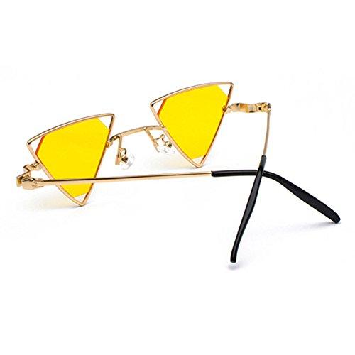 de estilo Glasses fuera ahueca sol Metal moda Mxssi mujeres C6 Steampunk hacia Triángulo hombres gafas de Cool IZWq8Ewxnv