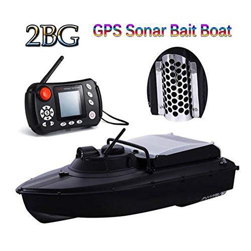 QTSR Fishing Bait RC Boat 1000m unobstructed Control LED Remote Control Display 2.4kg Ultra Light Weight for Angler,10a