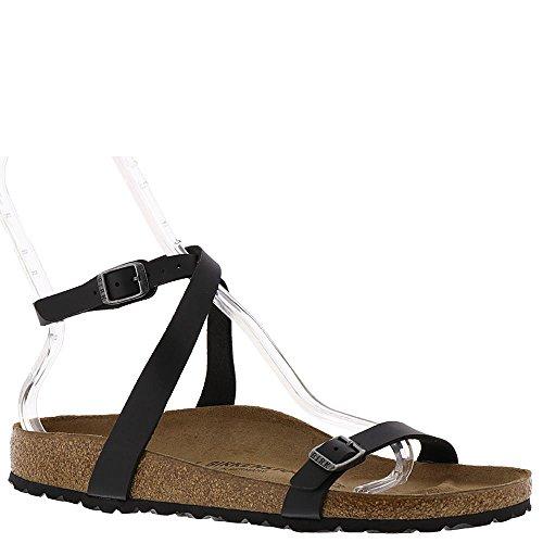 Birkenstock Daloa Sandals, Black Birko-Flor, EU 37 / US Womens 6-6.5 M