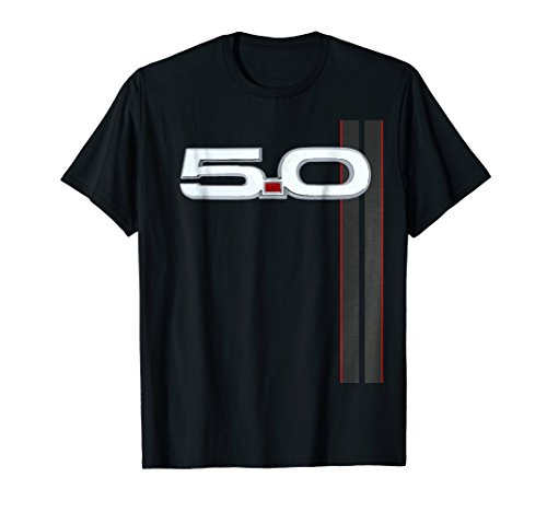 (5.0 V8 GT T-Shirt Racing Stripe Shirt)