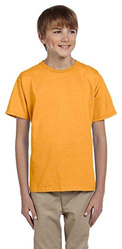 Hanes Youth 5.2 oz., 50/50 ComfortBlend EcoSmart T-Shirt, Medium, GOLD