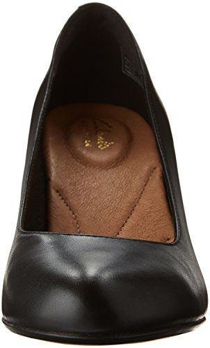 Women's Leather CLARKS Black Pump Heart Dress Heavenly 4qCHqw