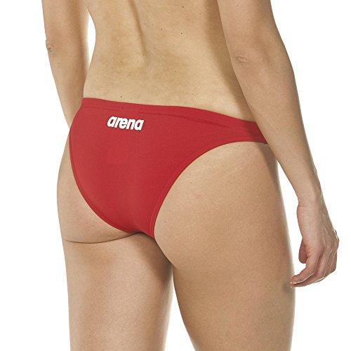 Rosso Arena parte donna bikini inferiore Solid bianco di Bottom Slip 8qCwr8RxA