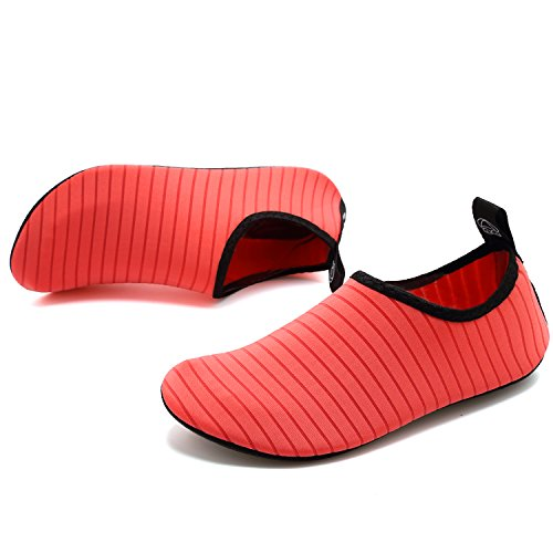 VIFUUR Water Socks Pink Aqua for Barefoot Quick Slip Yoga Shoes Dry Men Kids Women Sports on RFFq8xwrdp