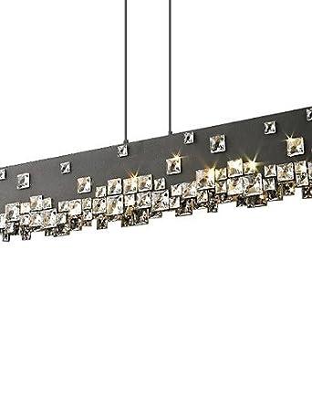 5 lámparas de techo acero inoxidable madera ms-86247 ...