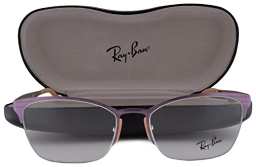 Ray Ban RX6345 Eyeglasses 52-17-135 Top Brushed Violet On Silver 2864 RB6345