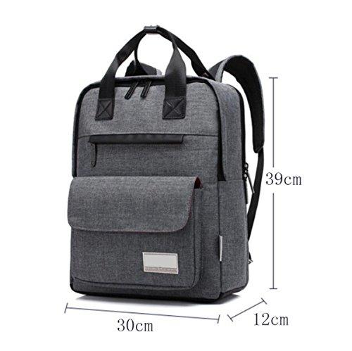 Moda Bag Impermeabile Computer Graypurple Uomini Zaino Del Big Uwf4xB7fqa