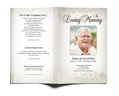 Ceasar Funeral Program Template Edits In Microsoft Word Import It All