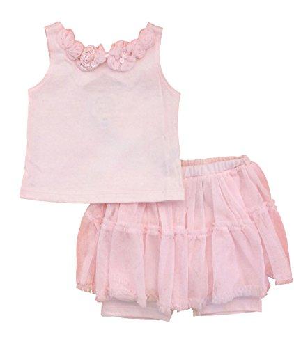 - Biscotti Baby Girls' Precious Petals Skirted Set Pink (9 Months)
