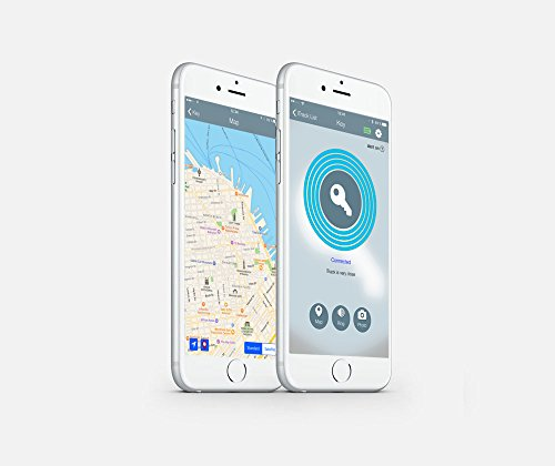 Find your key & phone in seconds with Qwer – Key Finder. Phone Finder. Item Finder – (Bluetooth/including APP for Android and iOS) – 4 Pack