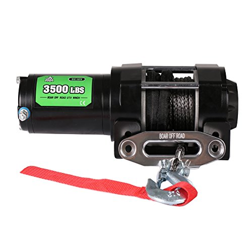 - Offroad Boar 3500Lbs Electric Winch for ATV/UTV Boat (Synthetic Rope)