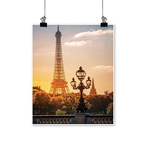 for Home Decoration Street Lantern The Alex re Bridge Aga st The Eiffel Tower Paris for Home Decoration No Frame,16