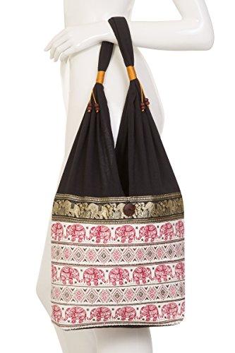 Bag Elephant 2 Thai Hippie Hippie Terrace Design Burgundy Thai Elephant Bag Terrace Design P8qcIAw