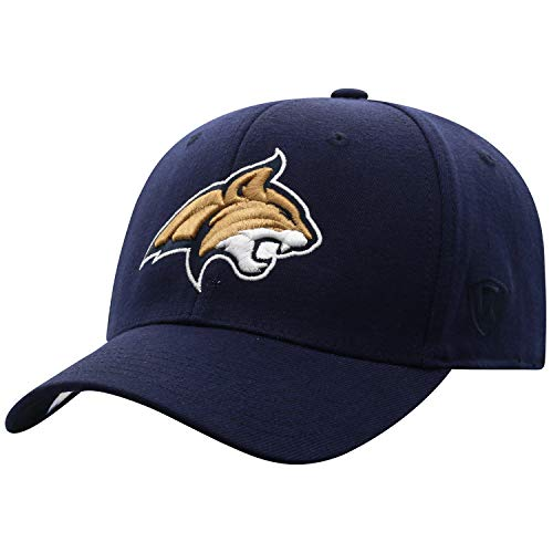 Top of the World Montana State Bobcats Men's Memory Fit Hat Icon, Navy, One Fit