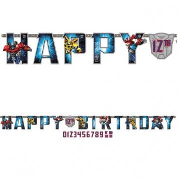 Amscan Transformers Jumbo Add-an-Age Happy Birthday Letter -