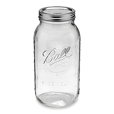 Wide Mouth 6-pack 0.5-gallon Glass Canning Jars