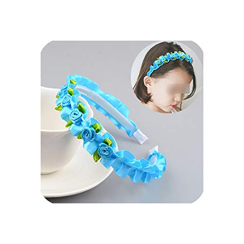 Girls Hair Accessories Flower Crown Headband Yarn Form Wreath Headdress Romantic Children's Hairband 8 Colors Headwear -