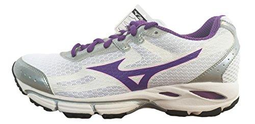Argento Donna 37 2 Scarpa Sneaker Bianco Mizuno Running Wave Resolute Viola qUR1zwp