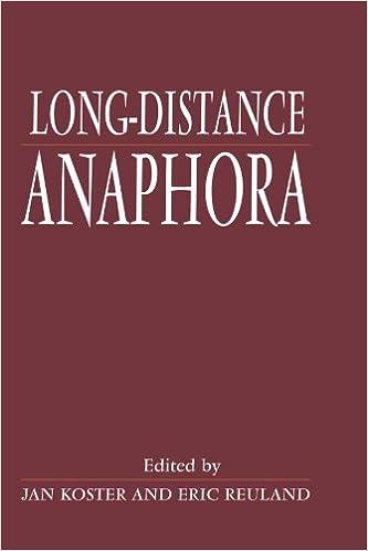 amazon com long distance anaphora 9780521400008 jan koster eric