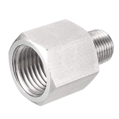 Reducing Brass Adapter - uxcell Pipe Fitting Adapter, Reducing Coupling, 1/8