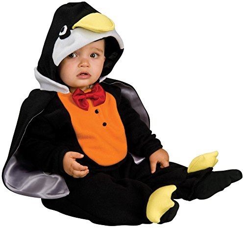 [UHC Cute Penguin Jumpsuit w/ Hood Infant Child Halloween Costume, 12-18M] (Baby Costumes Penguin)