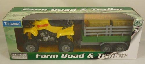(Farm Quad & Trailer - 1:16 Scale - Yellow [Toy])