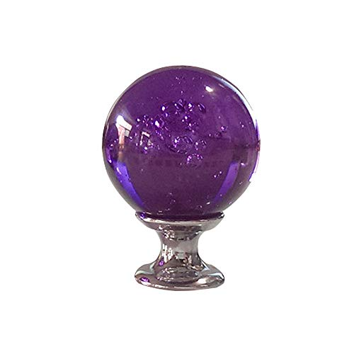 (KMCMYBANG Crystal Door Handle 10Pcs-Set 30MM Purple Clear Crystal Bubble Glass Ball Knobs, Cabinet Cupboard Dresser Closet Kitchen Drawer (Color : Purple, Size :)